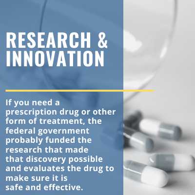 federal funding for prescription drugs, treatment, research to achieve safety and effectiveness.