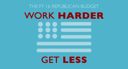GOP Budget: Work Harder, Get Less