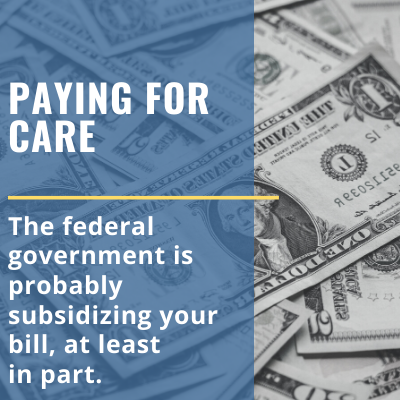 federal subsidies to help pay health care bills
